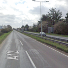 Two vehicles have crashed on the A12 at Martlesham