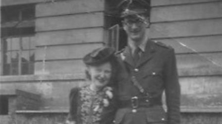 Hackney author Matha Leigh'sparents on their wedding day onJuly 6, 1945, outside Hackney Town Hall.
