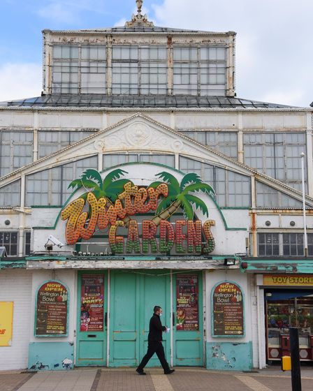 The dilapidated Winter Gardens at Great Yarmouth which has been awarded £10 million of lottery money