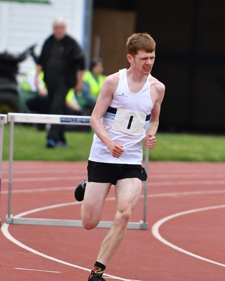 Rhys Edwards in action for Ilford AC