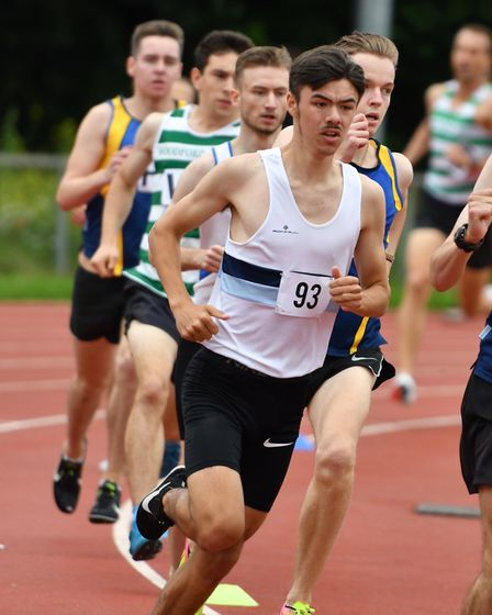 Dylan Harrold in action for Ilford AC