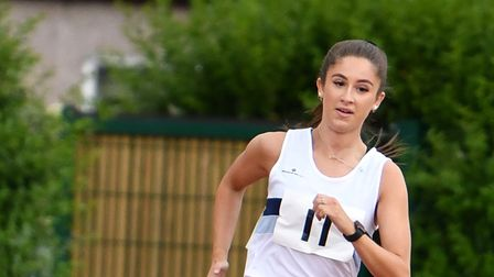 Ellie Wright in action for Ilford AC