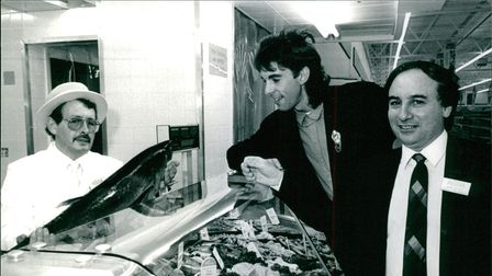 Peter Dickerson takes a look at he fish counter after opening the extended Asda superstore at Hellesdon