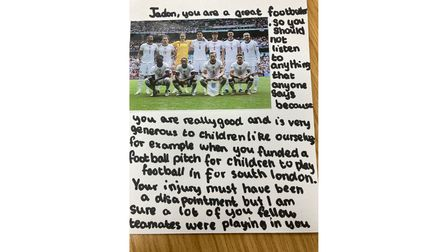 'Jadon you are a great footballer' - more support for England footballers at Highgate Primary
