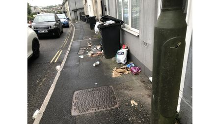 Rubbish in the streets