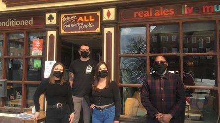 The Arena Tavern in Letchworth welcomed customers back on Monday with a brand new outdoor seating ar