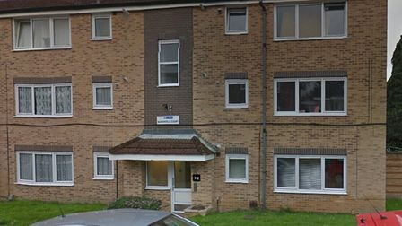 Police carried out a drugs raid at Bardwell Court, St Albans.