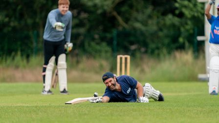 """Jake Amos from Garden House Hospice dubbed theinauguralHospice Cup """"top class with runs and wickets a plenty"""""""