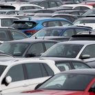 File photo dated 17/02/21 of thousands of cars parked at a car storage facility in Corby, Northampto