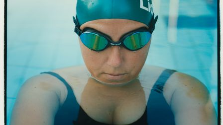 Laurie Firth. Laurie, 38,has enjoyed swimming all her life.