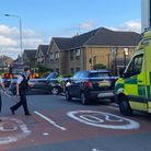 Emergency services at the scene of a crash in Forest Gate.