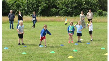 All smiles - Carlton Colville Primary School ran eight individual year group sports day sessions.