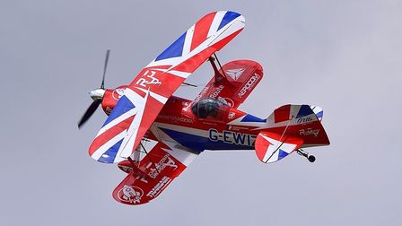 Rich Goodwin will perform for the first time in his colourful biplane