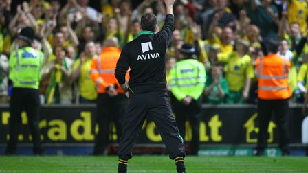 Norwich Manager Paul Lambert signals the only way is up at Ipswich