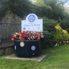 Floral display ready for Ottery in Bloom