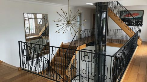 Internal glass home lift designed and installed by Access Lifts in Dorset