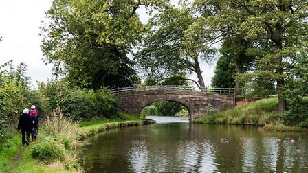 Walkers beside the Lancaster Canal