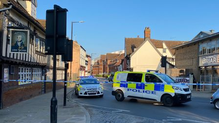 Police are at the scene of an incident in Fore Street, Ipswich
