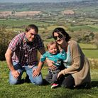 Nicci Simpsonwith her partner Karl and baby Oliver