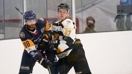 Defenceman Dan Fay in action for the Bees against Raiders