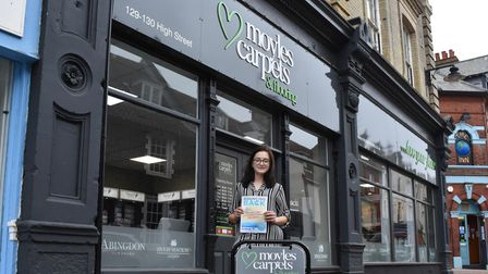 Moyles Carpets and Flooring Ltd store manager JadePendle supporting theBouncing Back campaign.