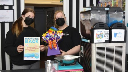 Supporting our Bouncing Back campaign, joint owner Kala Reeve, right, with her daughter Neve at K K's Sweet Treats.