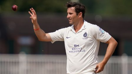 Middlesex's Tim Murtagh during day two of The Bob Willis Trophy match at Radlett Cricket Club, Radle