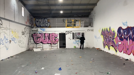 This is how I Am Nut Okay,'s Hackney Wick unit looks like today after vandals broke in for a rave.
