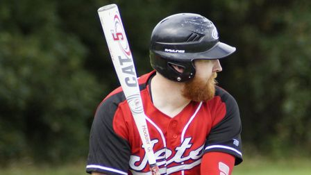 Darren Hines scored the lone run for Weston Jets against Cardiff Merlins