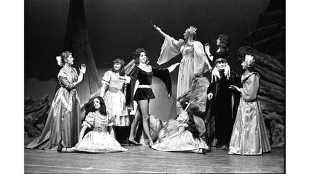 Members of the Felixstowe Co-op Juniors perform a scene fromLittle Boy Blue at the Spa Pavilion in 1972