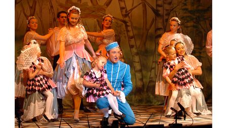 A scene from Cinderella by the Dennis Lowe Theatre company at the Spa Pavilion, Felixstowe, in 2005