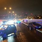 Acollision involving two cars on the A13 shortly before midnight on Sunday, July 11.