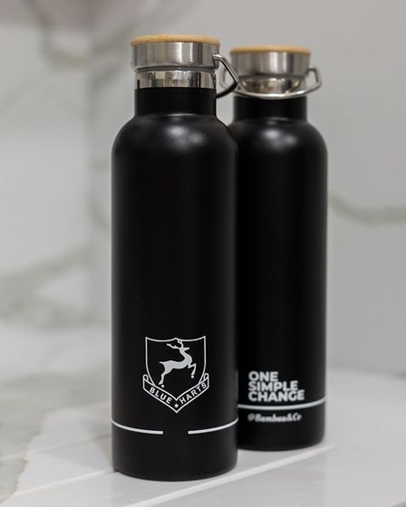 @BambuuBrush produced co-branded sustainable water bottles to commemorate their partnership with Blueharts Hockey Club