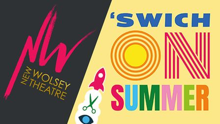 Logo for New Wolsey Theatre 'Swich on Summer events