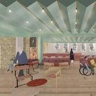 Artists view of the proposed new cafe at Jacksons Lane, Highgate