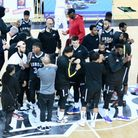 London Lions huddle together at the Copper Box Arena