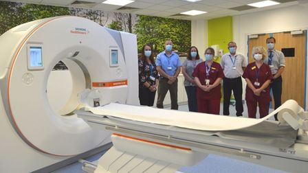 One of the new scanners with NDHT staff
