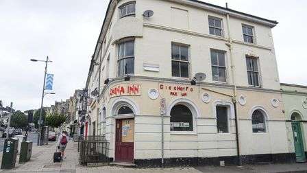 China Inn on Prince of Wales Road which is being turned into an Irish pub, Pogue Mahon's, by Adrian