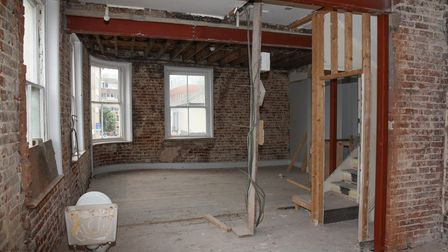 The second floor of China Inn on Prince of Wales Road which is being turned into an Irish pub, Pogue