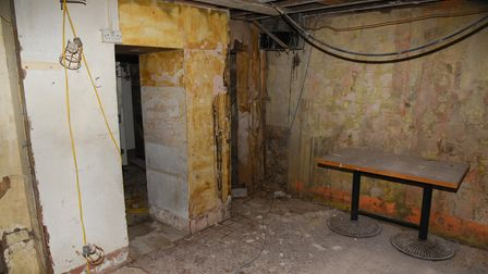 The basement of China Inn on Prince of Wales Road which is being turned into an Irish pub, Pogue Mah