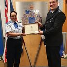 Naz Toofail, a police community support officer in Ilford, received the commendation last month