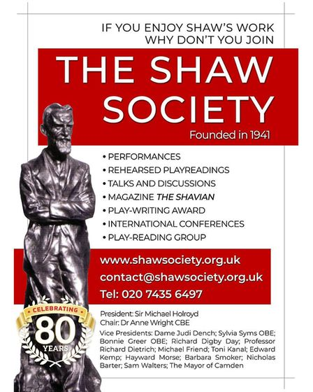 Join The Shaw Society poster.