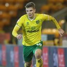 Jacob Sorensen of Norwich in action during the Sky Bet Championship match at Carrow Road, Norwich P
