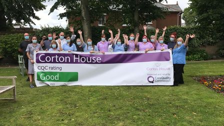 Corton House Care Home staff celebrate its 'good' CQC rating in Norwich