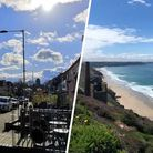 Norwich left and Chapel Porth Beach in Cornwall, right