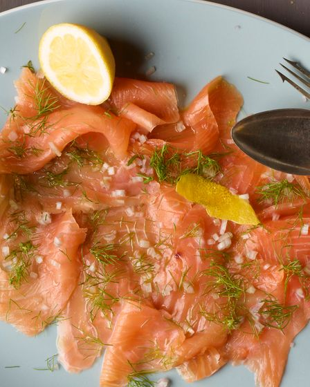 Gin and lemon marinated smoked salmon, a lovely summer starter