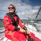 Poole based sailor Pip Hare sailing Medallia in the Vendee Globe round the world race