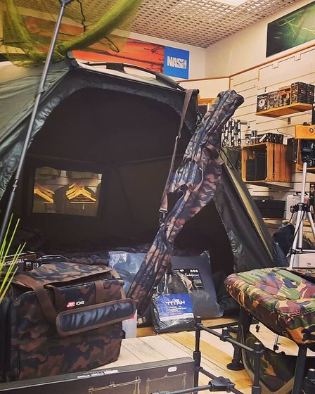 Camping equipment is available at the store