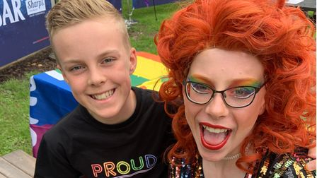 Drag Queen and Younger Brother at Brickies Pride