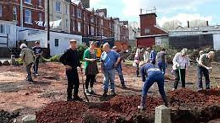 People power createsa beautiful well-used community garden space from apiece of wasteland